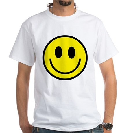 Classic Yellow Smiley Face White T-Shirt