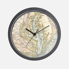 Vintage Map of The Chesapeake Bay(1778) Wall Clock