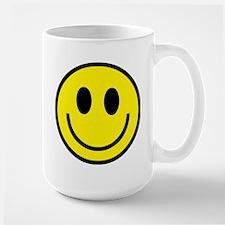 Classic Yellow Smiley Face Large Mug