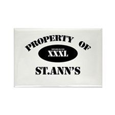 Property of St.Ann's Rectangle Magnet