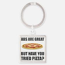 Abdominals Pizza Keychains