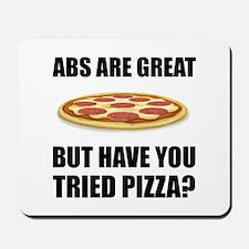 Abdominals Pizza Mousepad