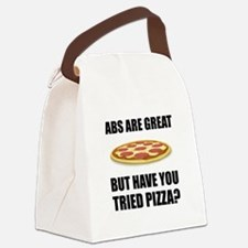 Abdominals Pizza Canvas Lunch Bag