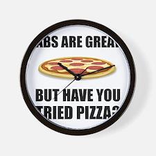 Abdominals Pizza Wall Clock