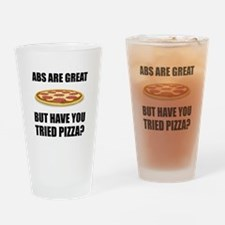 Abdominals Pizza Drinking Glass