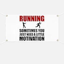 Zombie Running Motivation Banner