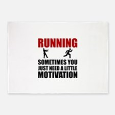 Zombie Running Motivation 5'x7'Area Rug