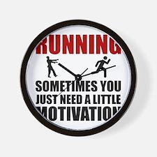 Zombie Running Motivation Wall Clock