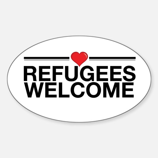 Refugees Welcome Decal