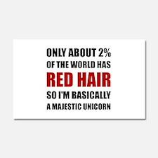 Red Hair Majestic Unicorn Car Magnet 20 x 12