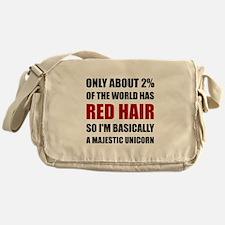 Red Hair Majestic Unicorn Messenger Bag