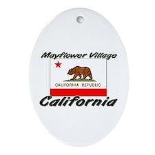 Mayflower Village California Oval Ornament