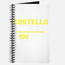 COSTELLO thing, you wouldn't understand! Journal
