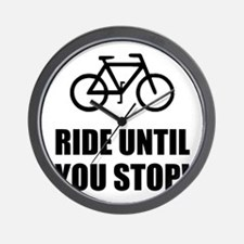 Bike Ride Until Stop Wall Clock