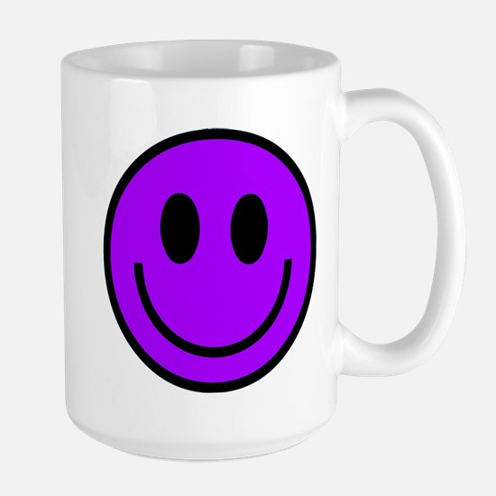 Classic Purple Smiley Face Large Mug