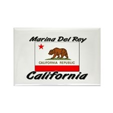 Marina Del Rey California Rectangle Magnet