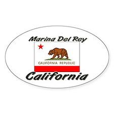 Marina Del Rey California Oval Decal