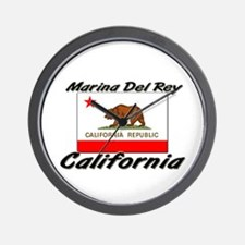 Marina Del Rey California Wall Clock