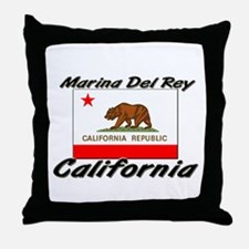 Marina Del Rey California Throw Pillow