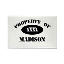 Property of Madison Rectangle Magnet