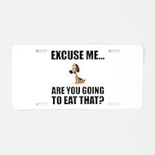 Dog Eat That Aluminum License Plate