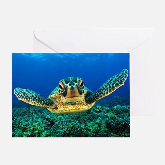 Funny Sea turtle Greeting Card