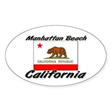 Manhattan Beach California Oval Decal