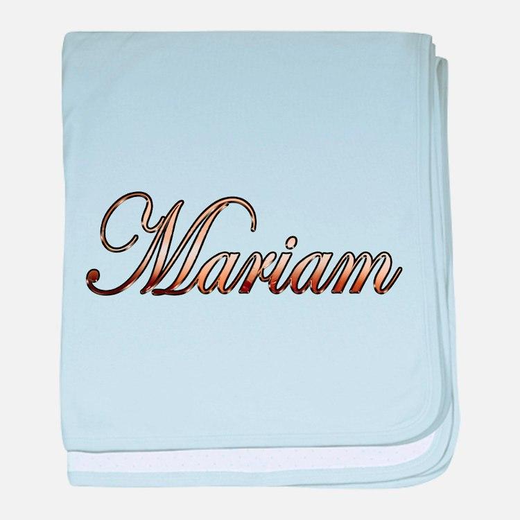 Gold Mariam baby blanket