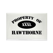 Property of Hawthorne Rectangle Magnet