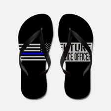 Police: Future Police Officer (Black Fl Flip Flops