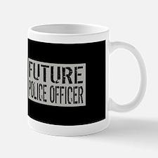 Police: Future Police Officer (Black Fl Mug