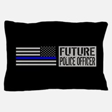 Police: Future Police Officer (Black F Pillow Case