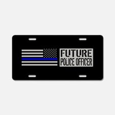 Police: Future Police Offic Aluminum License Plate