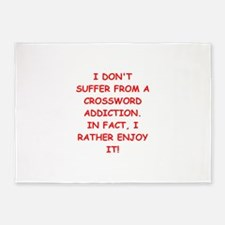 funny addiction joke 5'x7'Area Rug
