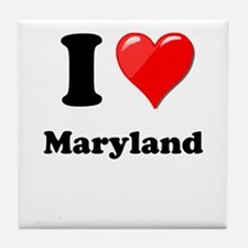 I Heart Love Maryland.png Tile Coaster