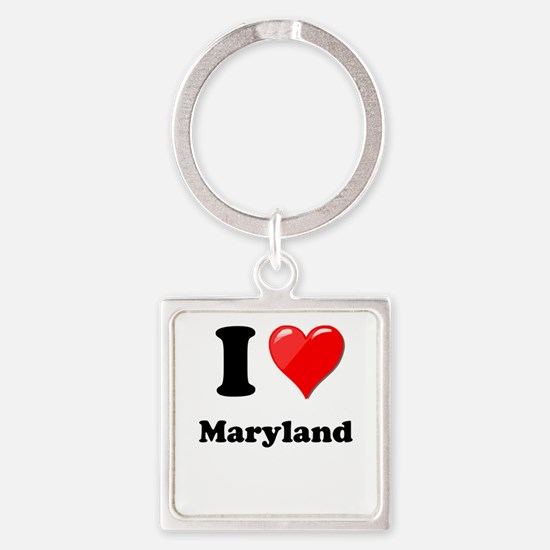 I Heart Love Maryland Keychains