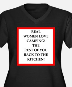 camping Plus Size T-Shirt
