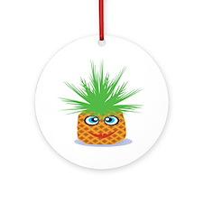 Happy Pineapple Ornament (Round)