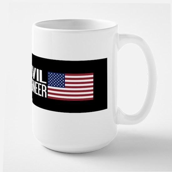 Careers: Civil Engineer (U.S. Flag) Large Mug