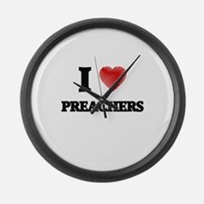 I Love Preachers Large Wall Clock