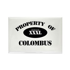 Property of Columbus Rectangle Magnet