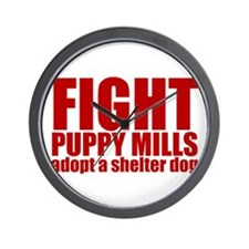 Fight Puppy Mills Wall Clock