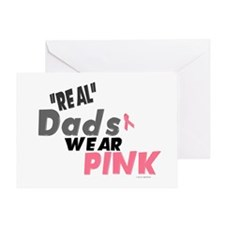 """Real"" Dads Wear Pink 1 Greeting Card"