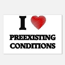 I Love Preexisting Condit Postcards (Package of 8)