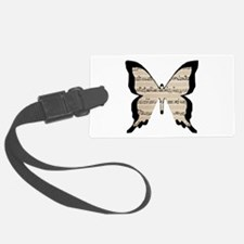 Musical Butterfly Luggage Tag