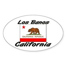 Los Banos California Oval Decal