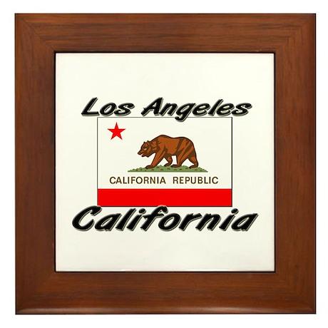 Los Angeles California Framed Tile