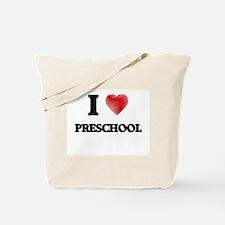 I Love Preschool Tote Bag