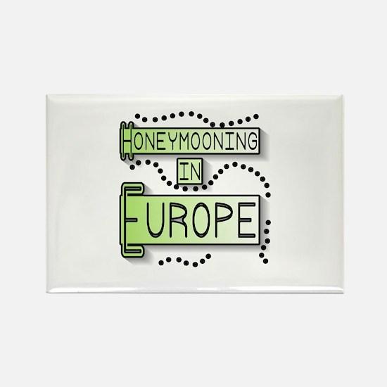 Green Honeymoon Europe Rectangle Magnet