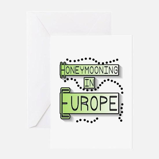 Green Honeymoon Europe Greeting Card